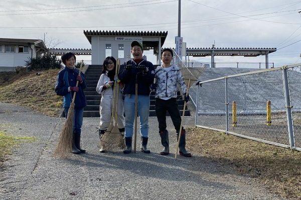 2020/12/29 酒殿駅草刈り奉仕作業