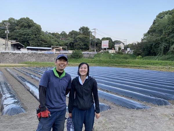 2021/10/4  新圃場の耕耘と畝立て
