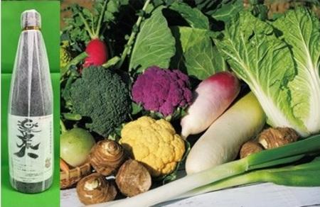 季節の野菜 8000円パック 「野菜と芋焼酎のset」