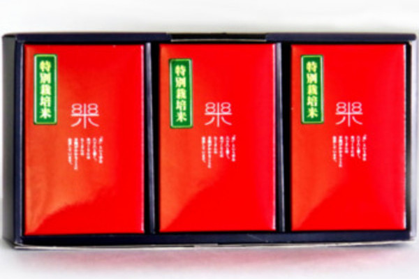 鹿児島県蒲生郷あきほなみ特別栽培米 大楠米贈答用 900g × 3袋入り